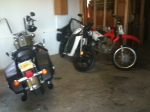This is where Dorothy lives with the '06 HD Road King and the Honda dirt bike.